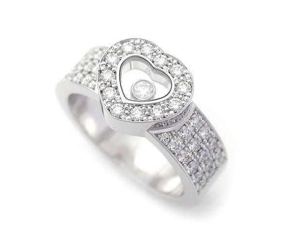 Nhẫn Chopard vàng trắng