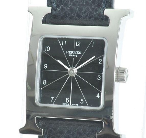 Đồng hồ Hermes mặt số đen HH1.210