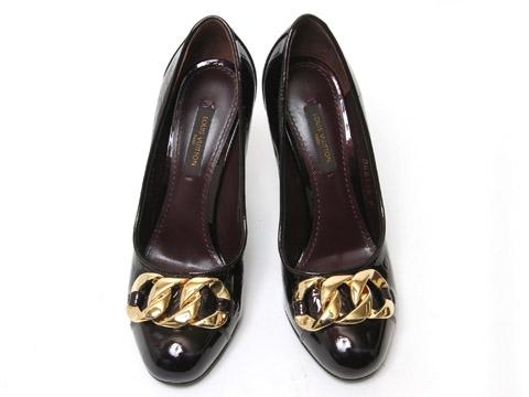 S Giày cao gót Louis Vuitton size 35 tím mận