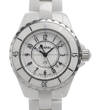 Đồng hồ Chanel màu trắng H0968