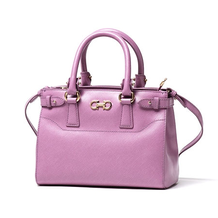 NEW Túi Ferragamo Batik Leather Lila màu hồng