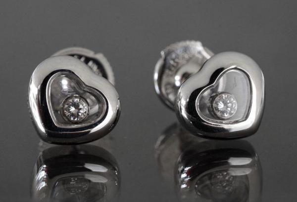 bông tai Chopard happy diamond 1 viên 4854