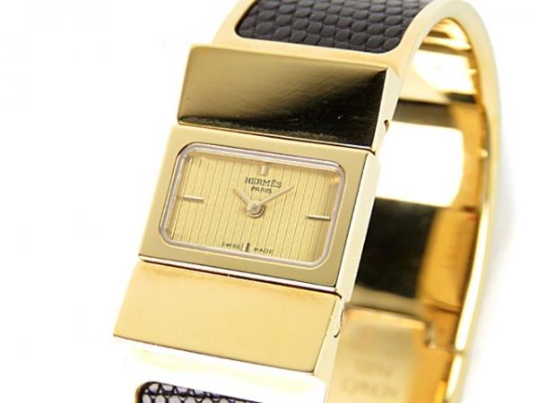 Đồng hồ Hermes màu vàng đen L01.201