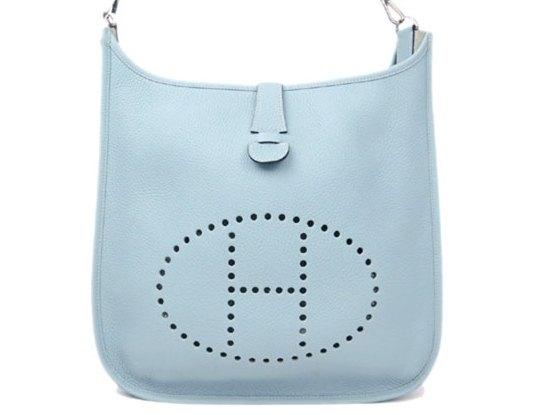 Túi xách Hermes màu xanh