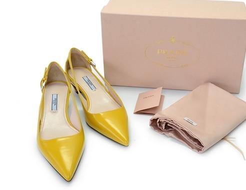 S Giày Prada size 38 màu vàng