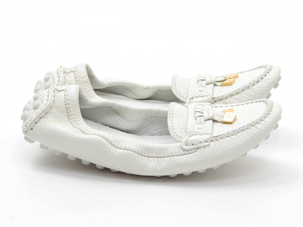MS4288 Giày Louis Vuitton size 35 1/2 bệt màu trắng