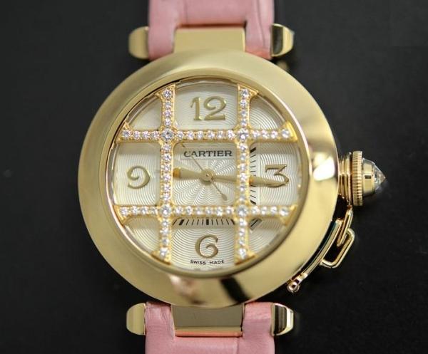 Đồng hồ Cartier Pasha K18YG kim cương