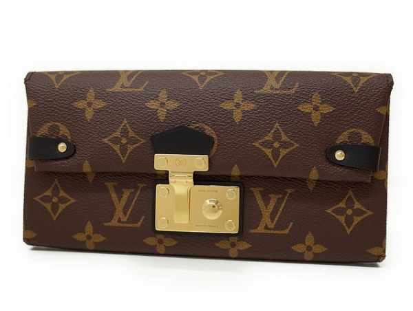 Ví da Louis Vuitton monogram màu nâu M61499 Triangle wallet
