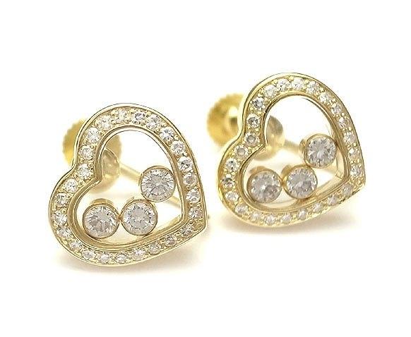 Bông tai Chopard happy diamond 3P trái tim