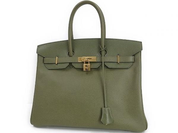 Túi xách Hermes birkin 35 màu xanh rêu