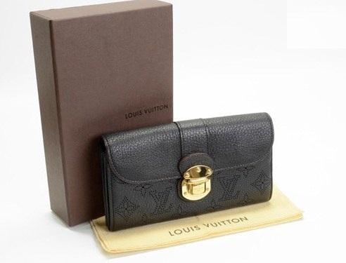 Ví da Louis Vuitton da dê màu đen M58136
