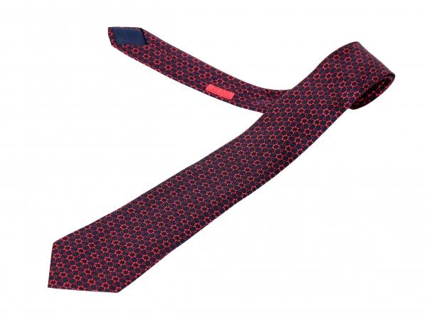 MS4500 Cà vạt Hermes đỏ đậm