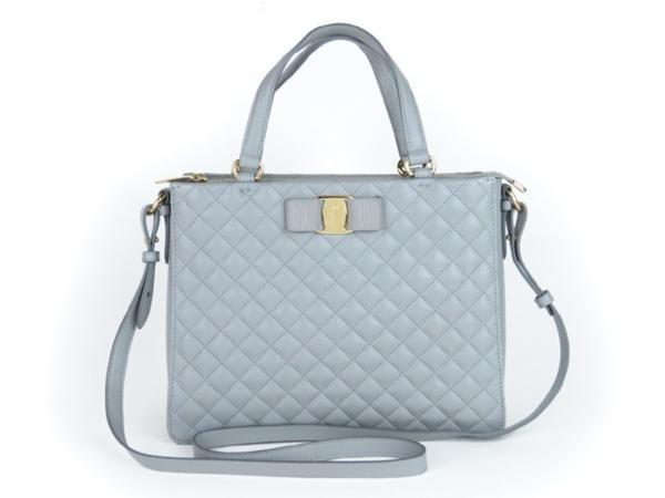 Túi xách Ferragamo màu xanh xám 9960