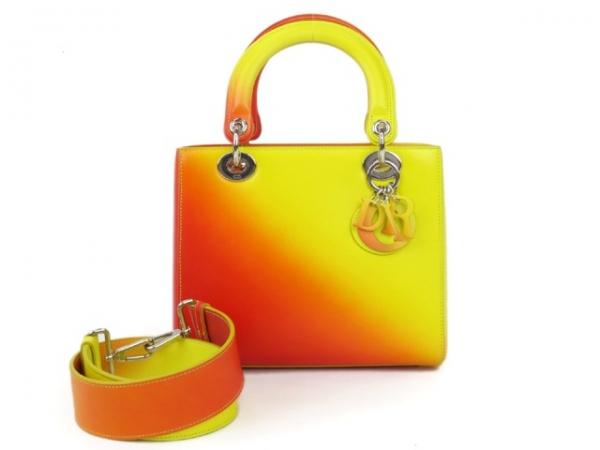 S Túi xách Christian Dior 2 màu cam vàng