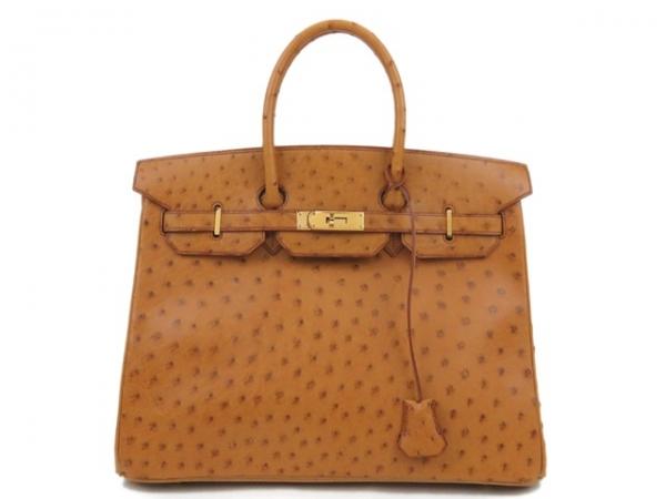 Túi xách Hermes Birkin 35 màu nâu da đà điểu