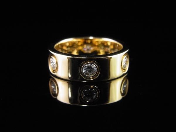 Nhẫn Cartier K18YG kim cương 6 P size 5