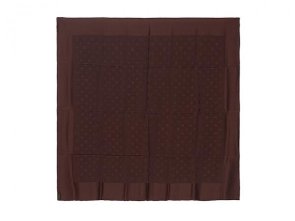 MS4249 Khăn Louis Vuitton lụa nâu socola SALEOFF