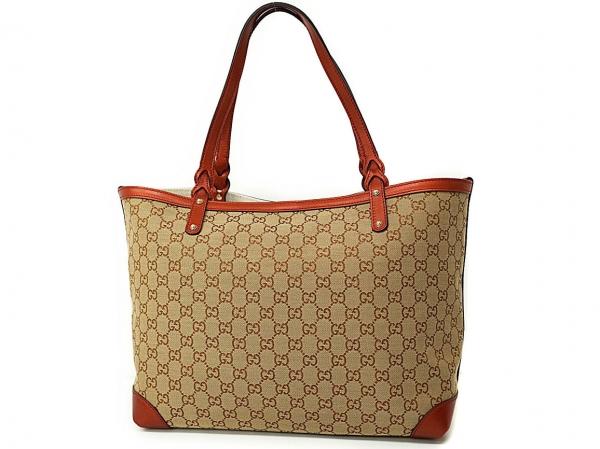 Túi xách nữ Gucci màu be viền da cam 247209