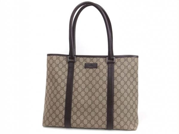Túi xách nữ Gucci Unisex màu be viền nâu đen 114288