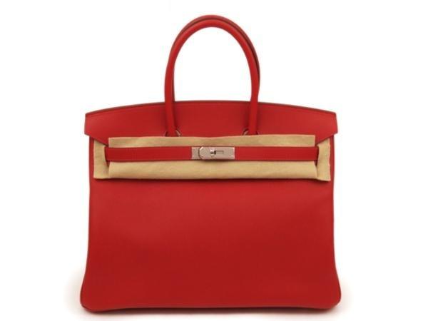 NEW Túi Hermes birkin 35 màu đỏ rough garance