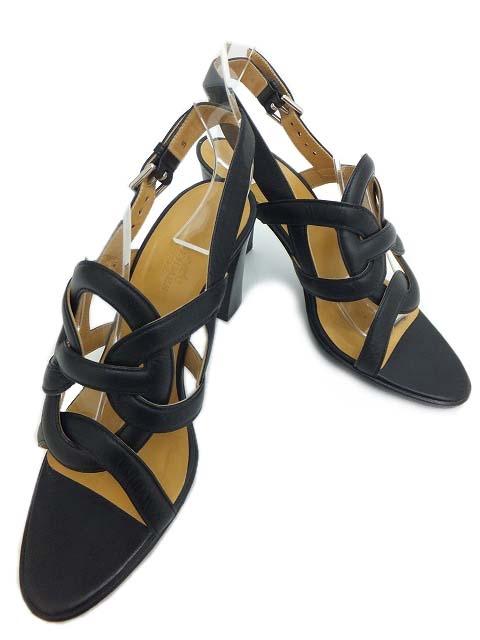 Sandal Hermes màu đen size 36