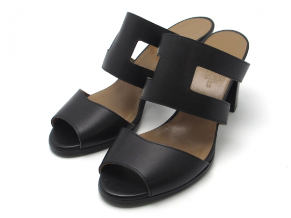 Sandal Hermes đen nâu size 36