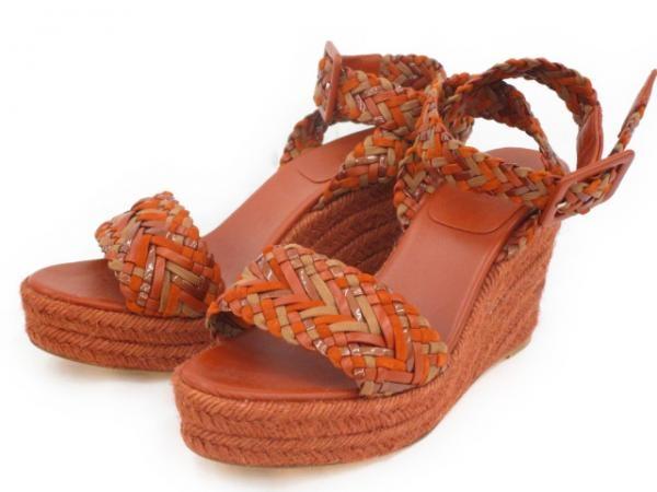 S Sandal Hermes màu đỏ gạch size 37