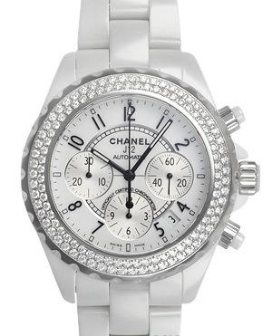 Đồng hồ Chanel kim cương màu trắng H1008
