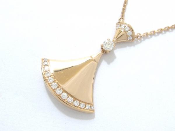 S Vòng cổ Bvlgari Diva K18YG kim cương CL856961