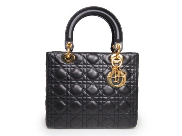 Túi xách Christian Dior màu đen khóa vàng