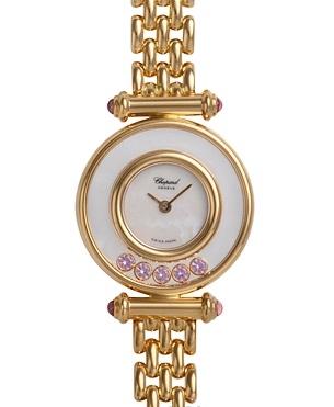 SA Đồng hồ Chopard K18YG đá hồng saphire mini