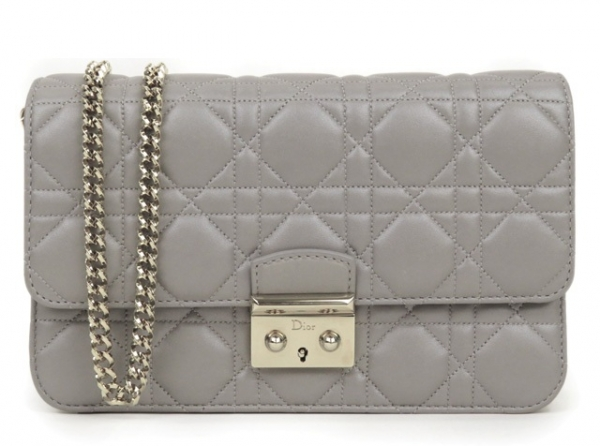 S Túi xách Christian Dior màu ghi