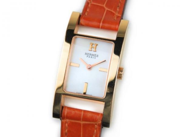 SA Đồng hồ Hermes K18PG mặt số trắng AC1.270