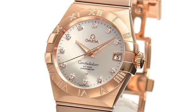 Đồng hồ Omega K18PG kim cương 123.55