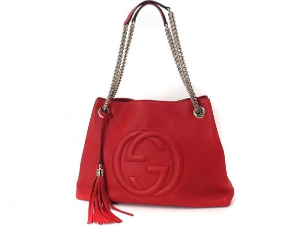 Túi xách nữ Gucci Soho Medium Tote màu đỏ 308.982