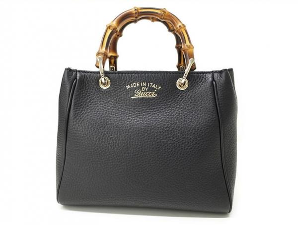 Túi xách nữ Gucci Bamboo Mini Shopper màu đen 368.823