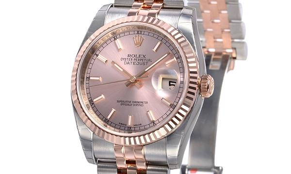 NEW Đồng hồ Rolex datejust K18PG/SS 116231