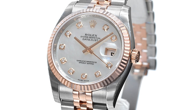 NEW Đồng hồ Rolex datejust K18PG/SS 116231NG