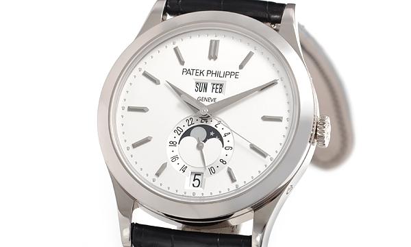 NEW Đồng hồ Patex Philippe K18YG dây da 5396G