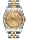 NEW Đồng hồ Rolex K18YG kim cương mặt vi tính 116243G