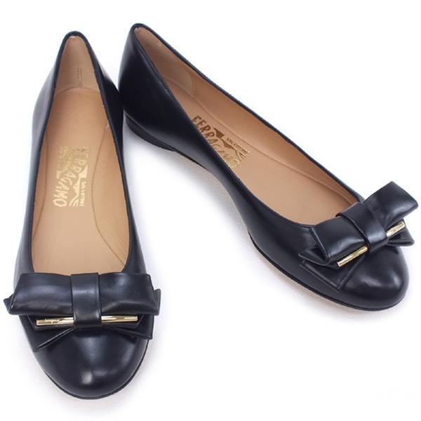 MS5015 Giày Ferragamo RUBIA size 6 1/2 bệt nơ da SUMMER SALE