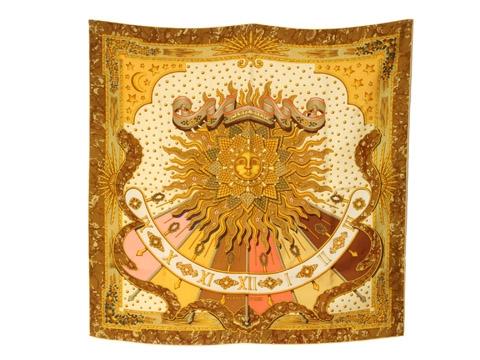 MS6003 Khăn Hermes mặt trời vàng