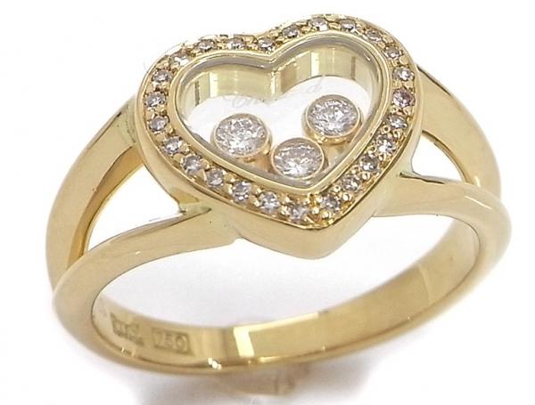 SA Nhẫn Chopard K18YG kim cương size 9.5
