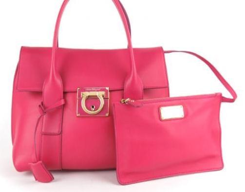 Túi xách Ferragamo màu hồng 21-D941