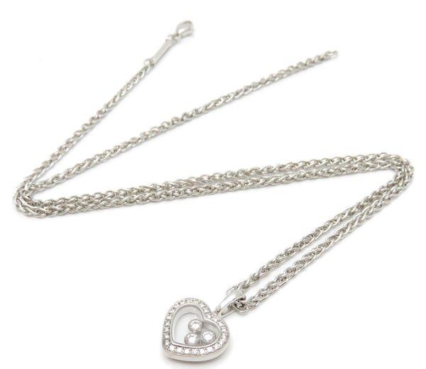 Vòng cổ Chopard K18YG kim cương