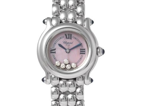 Đồng hồ Chopard happy sport SS mặt hồng