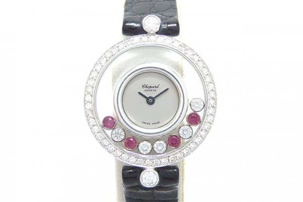 Đồng hồ Chopard dây da mặt rubi