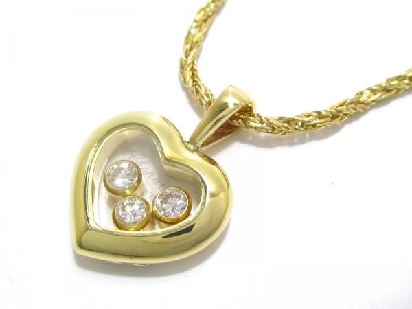 Vòng cổ Chopard K18YG kim cương 3P