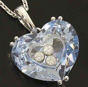 SA Vòng cổ Chopard trái tim kim cương