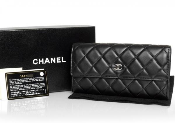 S Ví da Chanel màu đen A50096